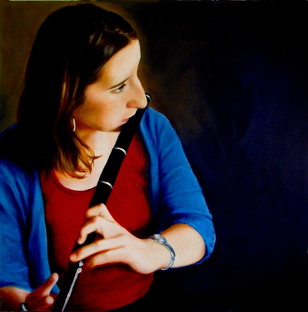 Aoife Granville, Album Cover, oil on board,40 x 40cm, image