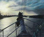 Asgard II Approching Cork, oil on canvas, ©Artist