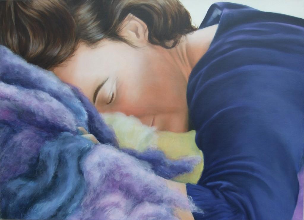 Portrait of a Textile Artist,Oil on Canvas 2008, image
