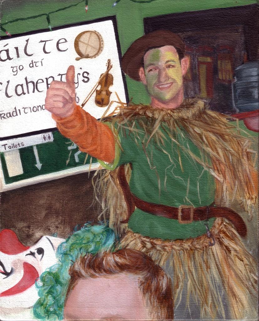 Fáilte go dtí Ó'Flahertys, up the green and gold, image