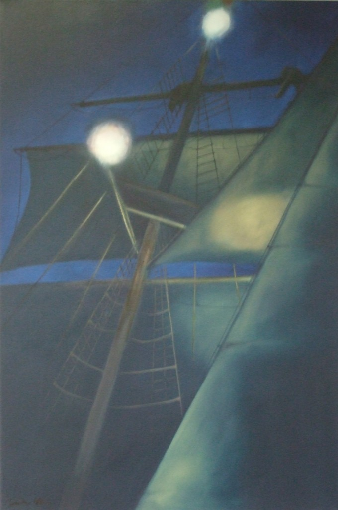 Night Sail, oil on canvas, image