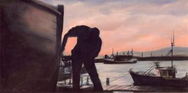 Sketch for Saor Bháid, Deireadh an Lae, oil on board, image
