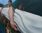 Stowing Sails, oil on canvas, 90cm x 114.5cm, image