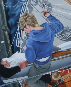 View from Aloft, Asgard II,oil on Canvas, 123 x 100 cm, image
