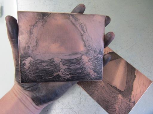 Inked up plates, image