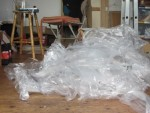 A lot of plasticbags