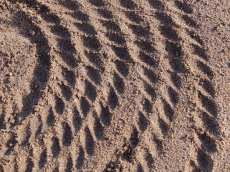 Detail of embossed sand