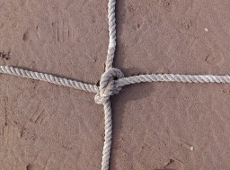 Cruciform knotted rope