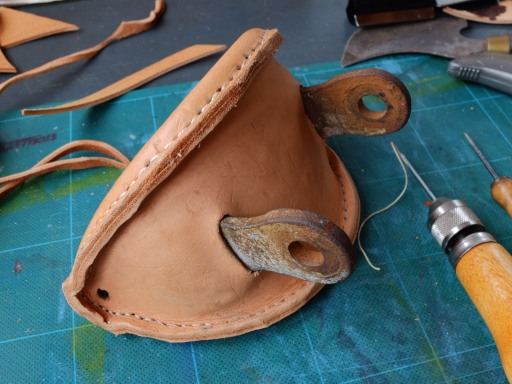 Mizzen gaff saddle covered