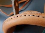 detail of finished mizzen gaffsaddle