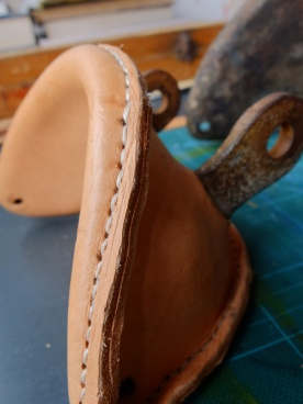finished mizzen gaff saddle