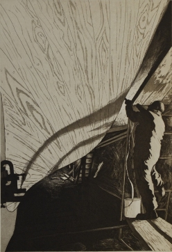 Caulking Ilen - etching & aquatint - edition size 14