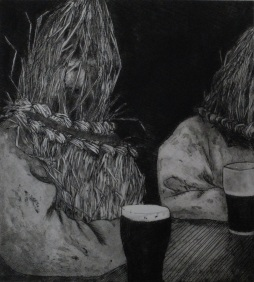 Straws and Pints Etching & aquatint Edition size 10